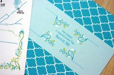 Green + Turquoise Garden Party Wedding Invitations by Mountain Paper via Oh So Beautiful Paper (13)