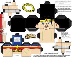 JLA 1: Wonder Woman Cubee by TheFlyingDachshund..