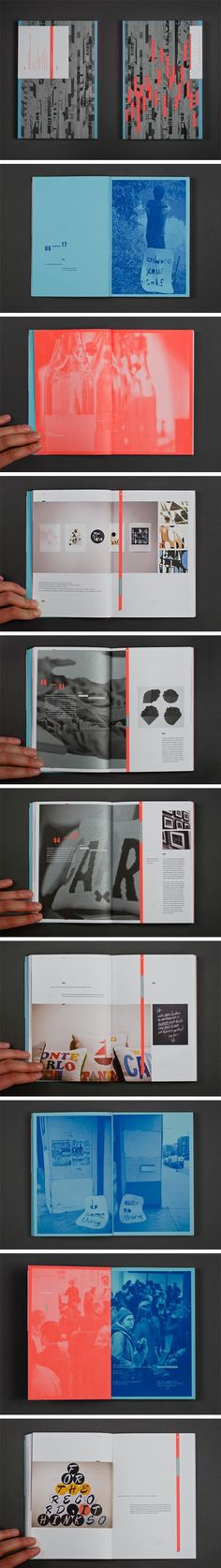 Typeforce 2 Exhibition Catalogue.I like the colour choices and the abstract layout. I think it shows how to add space and graphic elements to designs.