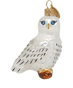 White Snowy Owl Glass Decoration | Christmas | Liberty.co.uk