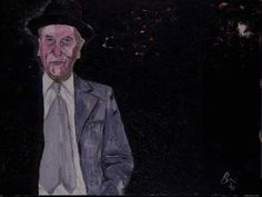 William S. Burroughs, Painted by David Bowie. Contemporary Art Gallery, Art Gallery, Franz Kline, Richard Diebenkorn, Contemporary Artists, Art, Contemporary Art, Bowie, David Bowie Artwork