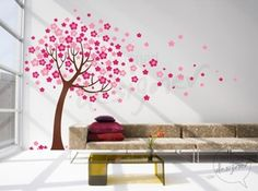 Tree Wall Decal Wall Sticker By designedDESIGNER - contemporary - decals - by Etsy