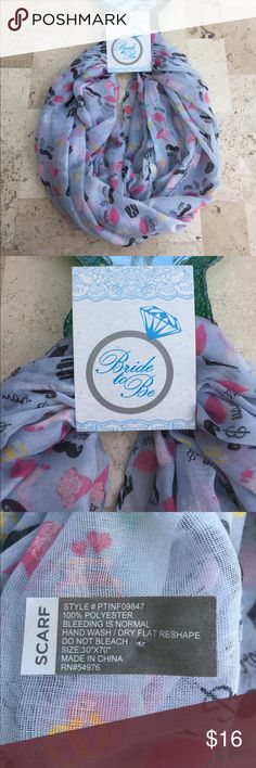 NWT BRIDE TO BE MR AND MRS SCARF New with tags Mr. and Mrs. bride to be scarf Accessories Scarves & Wraps