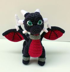 Cynder the Dragon Amigurumi Crochet Plush Inspired by Legend of Spyro and Skylanders