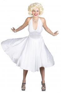 Sexy Adult Costumes New for 2013 http://www.planetgoldilocks.com/halloween/sexycostumes3.html #Marilyn Monroe Marilyn Monroe  #Costume Marilyn Monroe Deluxe Adult Costume Classic Movie Star Glam! Includes: Legendary white lycra dress completely finished with exaggerated flared skirt, and lacing. Available Sizes: Small (6-8) Medium (10-12) http://www.planetgoldilocks.com/halloween/sexycostumes3.html