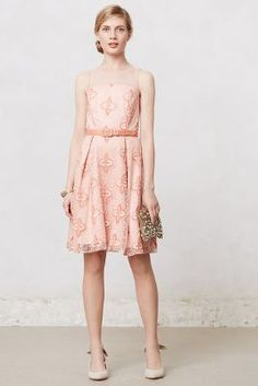 Anthropologie Peach Blossom Dress