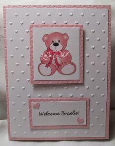 Nothin' Fancy: Baby Girl Card , Cuttlebug, Clip art Teddy bear