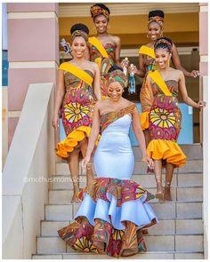 African Print Wedding Dress, African Bridesmaid Dresses, African Wedding Attire, Latest African Fashion Dresses, African Dresses For Women, African Weddings, Ankara Fashion, Nigerian Weddings, African Attire