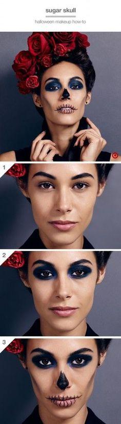Maquillaje sencillo de Catrina