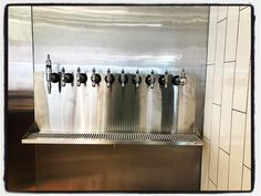 Finishing up installation of the new #beer tap system to compliment to new food menu this #spring! We will be the first place to enjoy food and local #LA #brewery beer Right on the #river #bikepath!! Can't wait til spring!!!