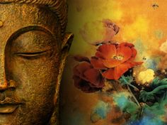 buddha pics | Buddha Statue HD Wallpaper Flowers