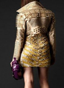 Burberry beautiful beige cropped studded biker jacket