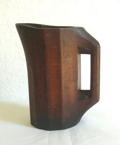 Wooden Pitcher, late 19th century