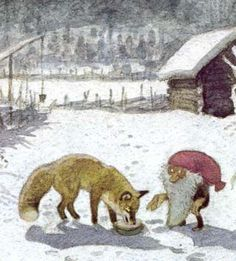 Tomte and the fox - by Astrid Lindgren.     LOVE this book; read it to our kids at bedtime every December