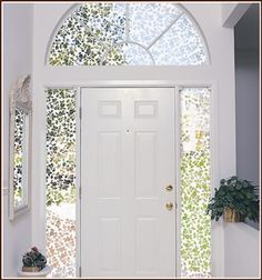 The floral etched glass design of Eden allows light to enter, while creating some privacy.