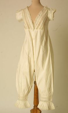 Combinations, cotton trimmed with lace, 1887.