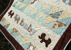 Pachyderm Procession Quilt Pattern for Baby