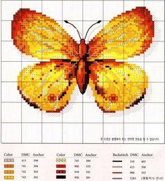Схемы вышивки бабочек крестом. Обсуждение на LiveInternet - Российский Сервис Онлайн-Дневников