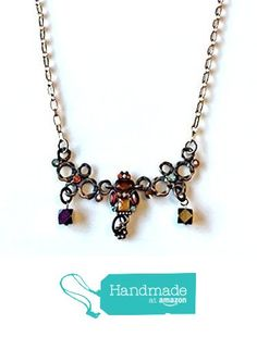 Art Deco Vintage Style Copper Rhinestone Chain Necklace from NatureAngels - Handmade, Upcycled and Vintage http://www.amazon.com/dp/B015HJ514I/ref=hnd_sw_r_pi_dp_LDNfwb06TBE74 #handmadeatamazon