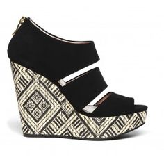 printed platform wedge