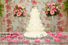 Bolo decorado casamento