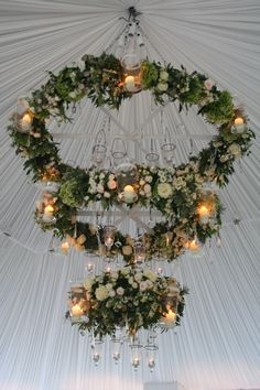 Hanging decoration at Suddeley Castle with Starlight Production