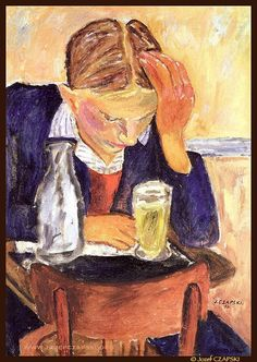 """huariqueje: """" Male Portrait (Self portrait) - Jozef Czapski 1950 Polish """" Rodin, Post Impressionism, Impressionist, Georges Seurat, Pointillism, Classical Art, French Art, Vincent Van Gogh, Art Forms"""