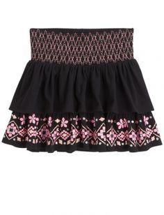 Tiered Smocked Waist Skirt