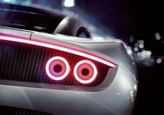 The taillights imitate the form of jet afterburners