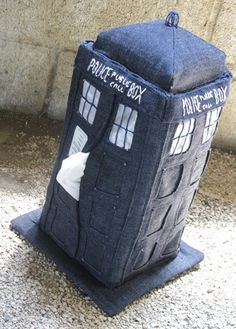 Craft:G33k used denim to create this funny Tardis-shaped tissue box cozy--and better yet, she shares a tutorial so you can make one too! [via Geek Crafts]