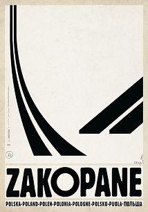 Ryszard Kaja - Zakopane, polski plakat turystyczny
