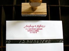 CALLIGRAPHY ADDRESS STAMP ~ I want to write letters just to use this!