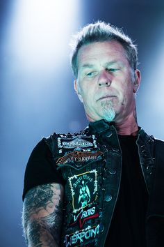 James Hetfield- Metallica. His lyrics helped through one of the hardest times in my life.