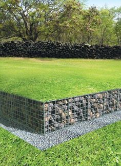 A retaining wall is a perfect DIY project for a variety of skill levels. We have rounded several retaining wall ideas to decorate and build your landscape. Outdoor Projects, Garden Projects, Back Gardens, Outdoor Gardens, Outdoor Sheds, Landscape Architecture, Landscape Design, Gabion Retaining Wall, Gabion Stone