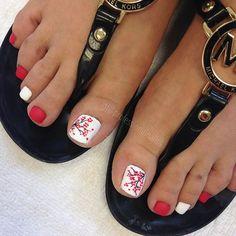 Toe Nail Color, Toe Nail Art, Toe Nails, Nail Colors, Pedicure Designs, Toe Nail Designs, Nail Art Pena, Spring Nails, Summer Nails
