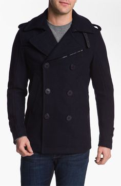 DIESEL® 'Wittory' Double Breasted Peacoat available at #Nordstrom