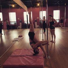 Almost Flat Russian Split  Pole Fitness