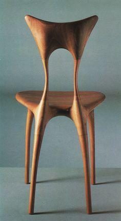 Organic chair. Furniture. Wooden chair.