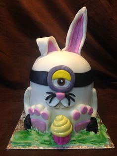 Bunny Cupcake Cakes, Cupcakes, Custom Cakes, Minions, Pikachu, Bunny, Easter, Christmas Ornaments, Holiday Decor