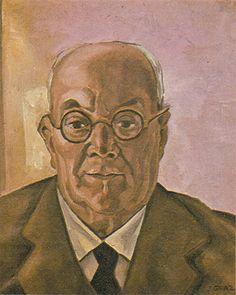 Retrato do Pai do Artista 1925 | John Graz óleo sobre tela, c.i.d. 44.00 x 36.00 cm