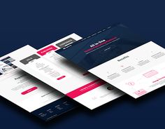 """Check out new work on my @Behance portfolio: """"Multiple page website design with…"""