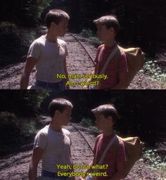 Stand By Me . everybody is weird Stand By Me … jeder ist komisch 80s Movies, Great Movies, Movie Tv, Indie Movies, Action Movies, Movie Scene, Movie Blog, Tv Show Quotes, Film Quotes