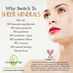 Why Choose Sheer Minerals Makeup. Face to Face: Sheer Minerals v. Leading Brands