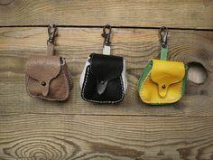 Kleine Ledertasche, Tasche Zubehör, Leder-Schlüsselanhänger, Mini Tasche, Münze Tasche, Auto Schlüsselanhänger, abnehmbare