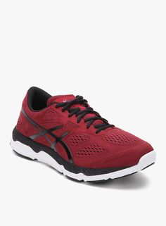 Asics 33- Fa Maroon Running Shoes On LooksGud.in   #Asics, #Red, #Runningshoes