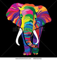 Colorful elephant. Vector illustration