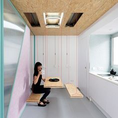 I Had An Idea For Retractable Furniture In A Tiny House. // This  Transformable Microapartment Has Secret Trap Doors Everywhere