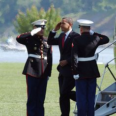 Air Force One is the US President's plane. What is Marine One? A helicopter.