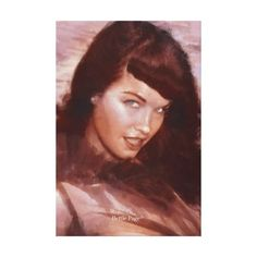 Bettie Page The Queen Of Pinups Art by Paul Nery Canvas Print #vintagebetty #zazzle #bettiepage #pinupgirl #pinup #queenofpinups ~ so that martians know what beauty looks like on Earth. ;-)