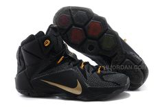 best sneakers 9ee70 4ac84 Nike LeBron 12 P.S. Elite Black Gold